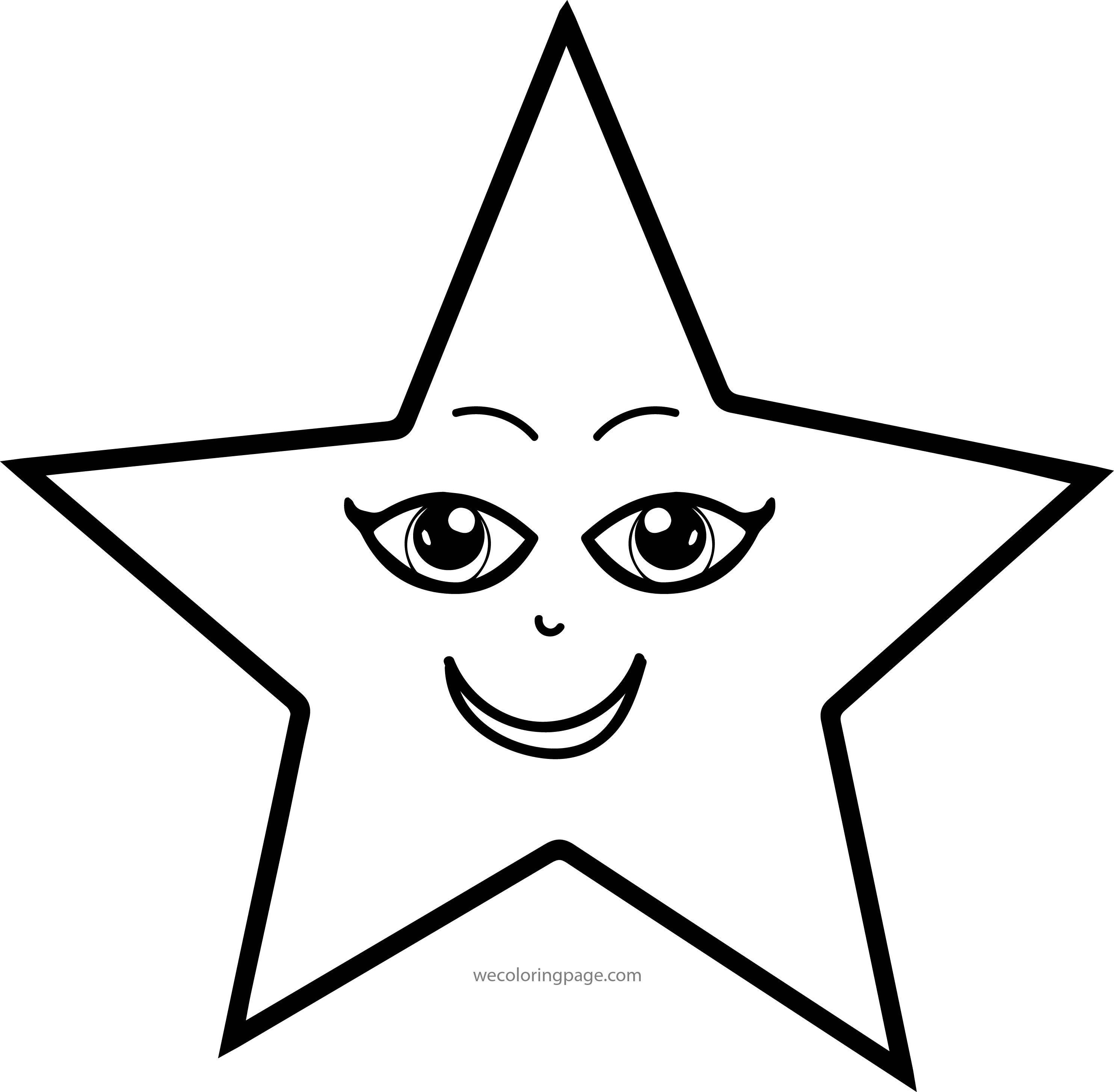 Coloring Book Pages Of Stars  Girl Star Eye Coloring Page