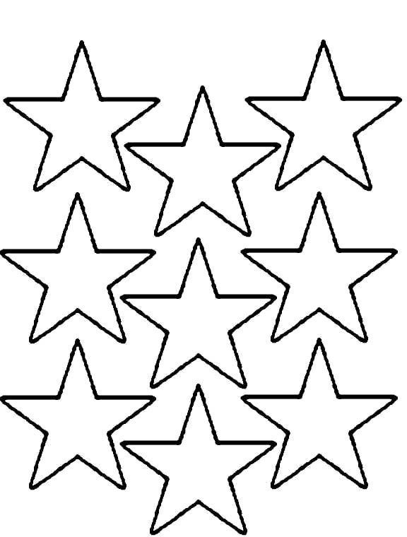 Coloring Book Pages Of Stars  Stars Coloring Pages Multi Stars