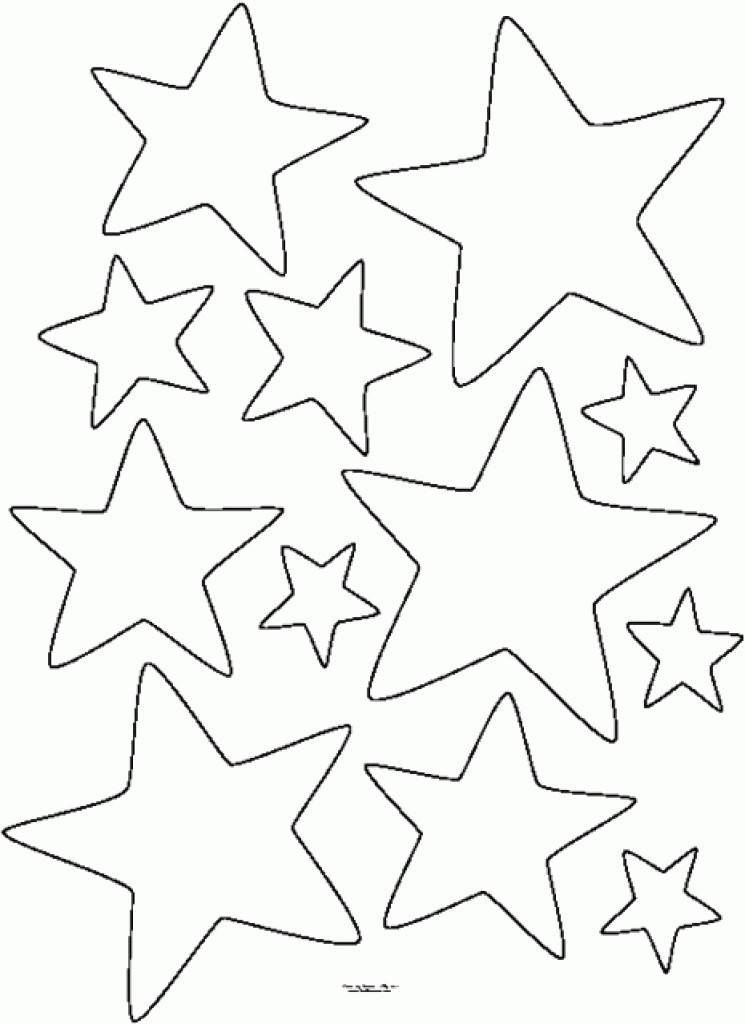 Coloring Book Pages Of Stars  Tiny Star Template Free Printable Templates For MM Etc