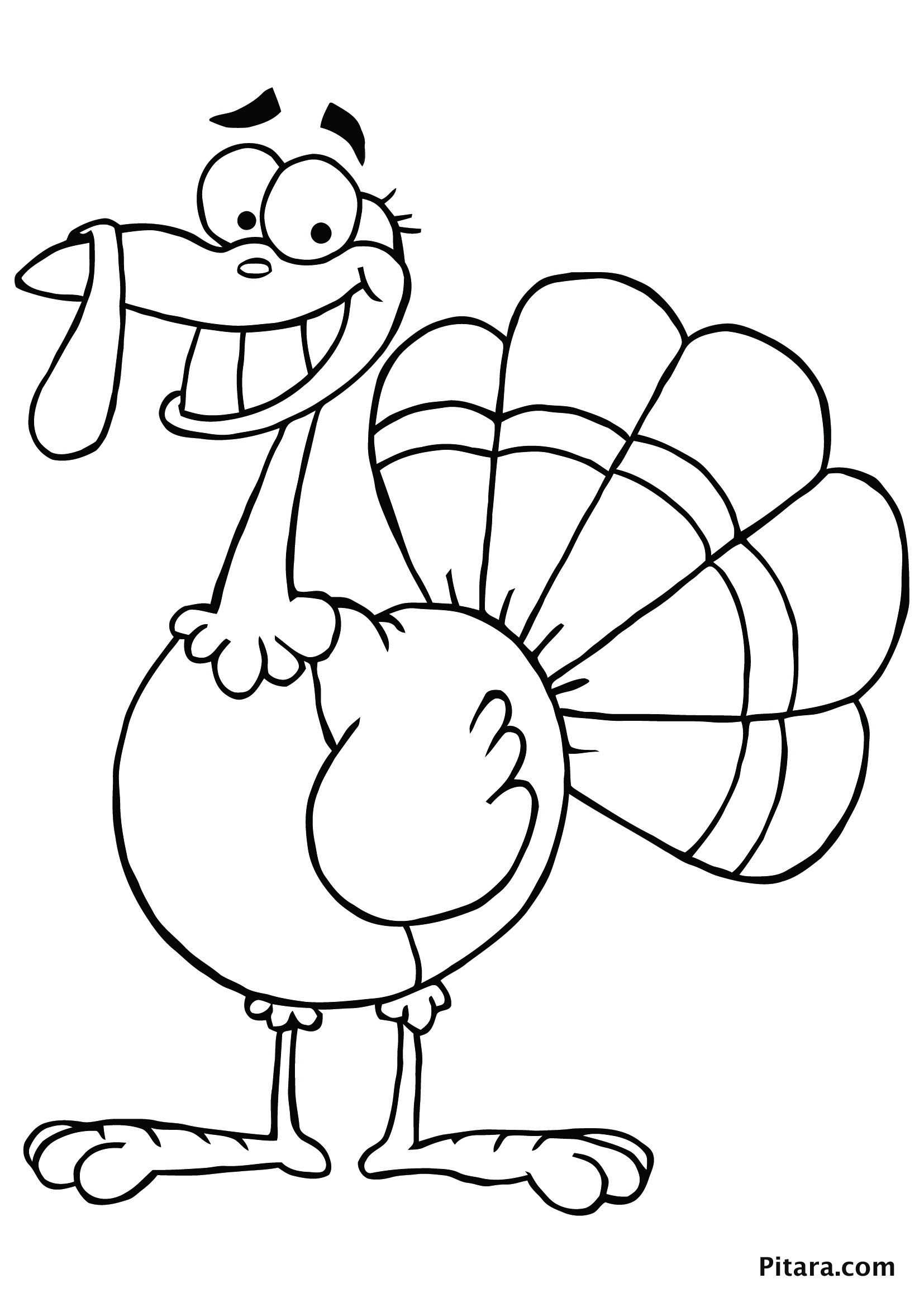 Coloring Book Pages Of Turkeys  Turkey Coloring Pages for Kids