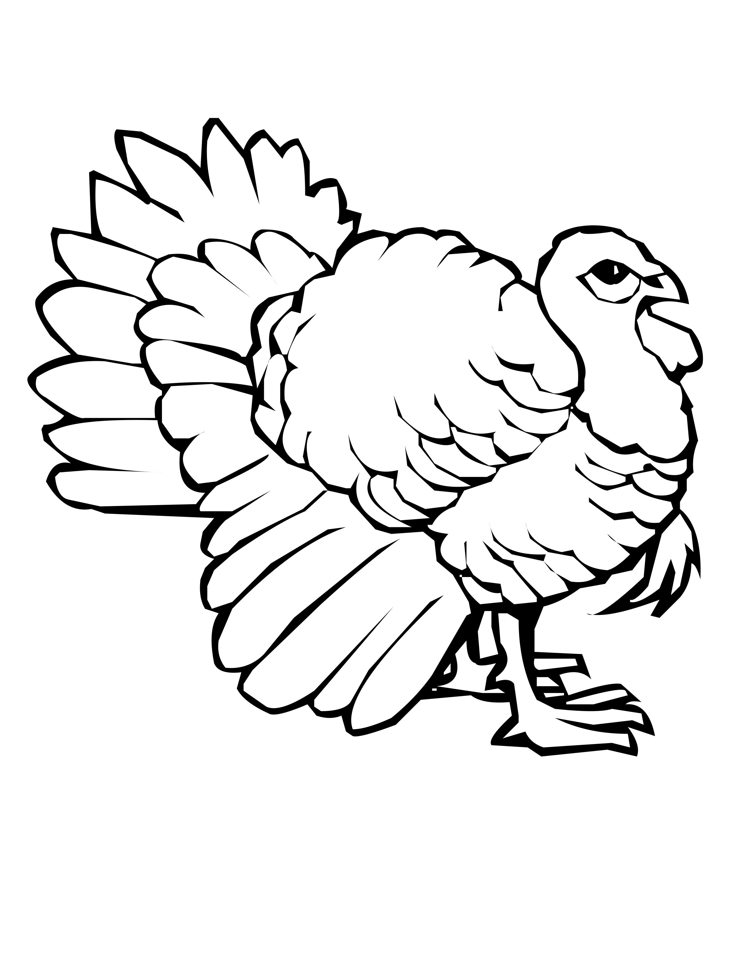 Coloring Book Pages Of Turkeys  Free Printable Turkey Coloring Pages For Kids