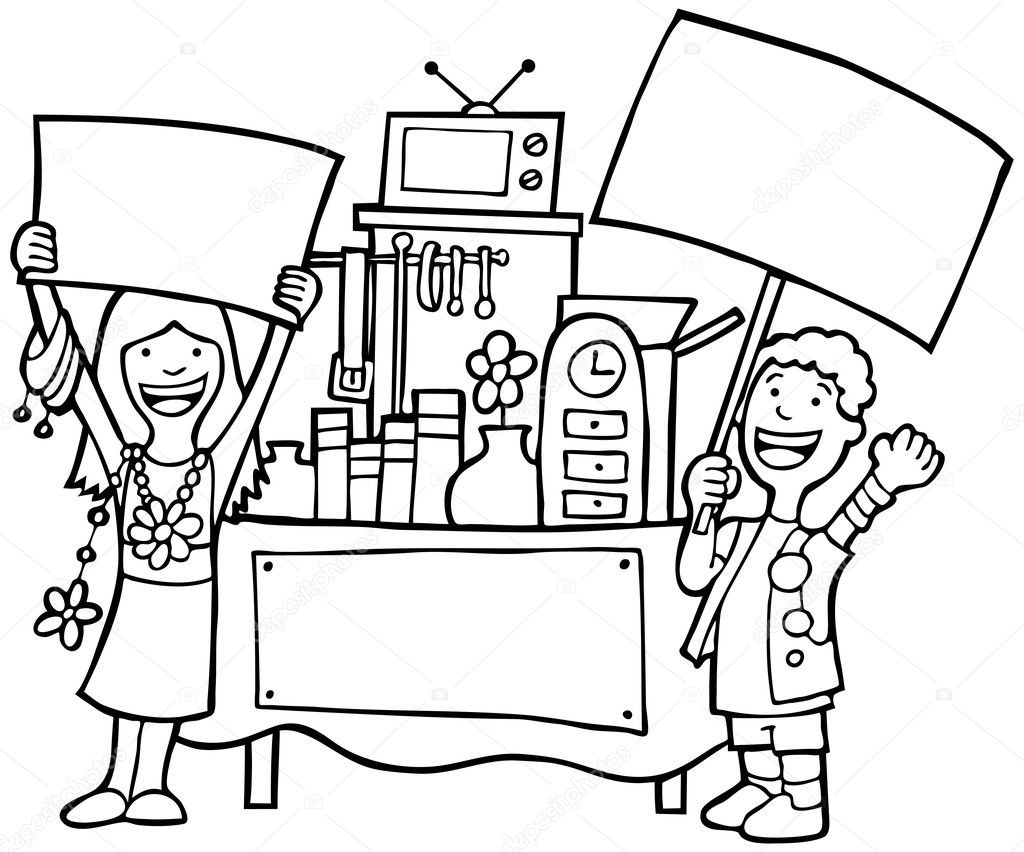 Coloring Book Sales  Garage Sale Coloring Pages Coloring Pages