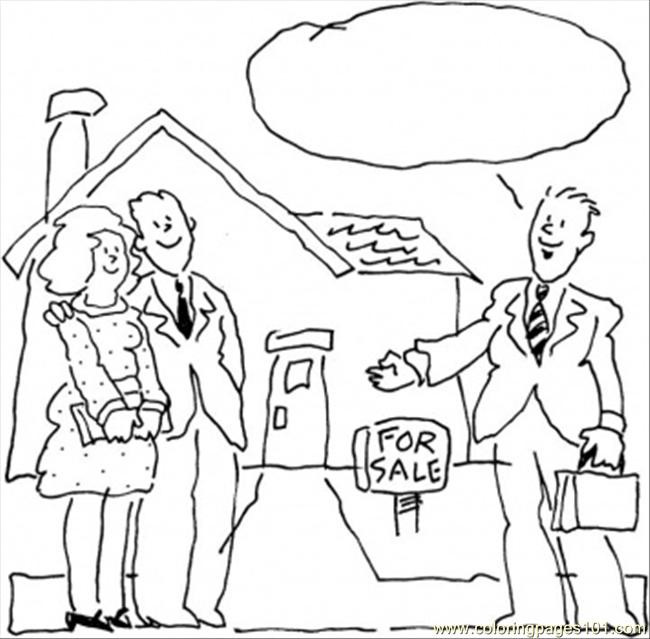 Coloring Book Sales  House For Sale Coloring Page Free Profession Coloring