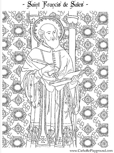 Coloring Book Sales  Saints Coloring Pages – Catholic Playground