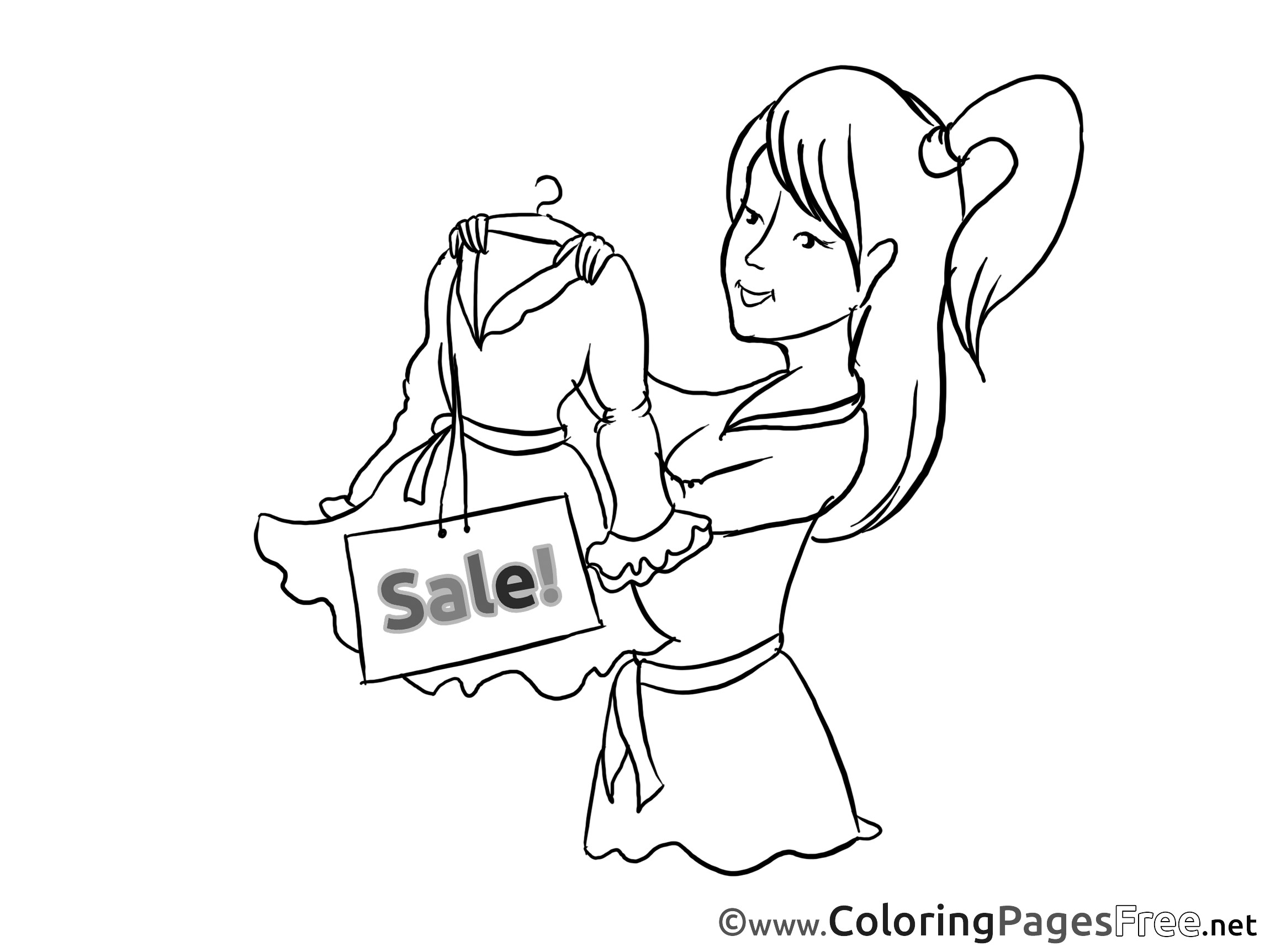 Coloring Book Sales  Dress Sales Kids Business Coloring Pages