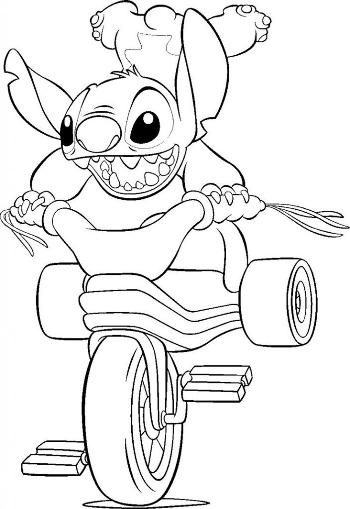 Coloring Books For Toddlers Online  Free Printable Lilo and Stitch Coloring Pages For Kids