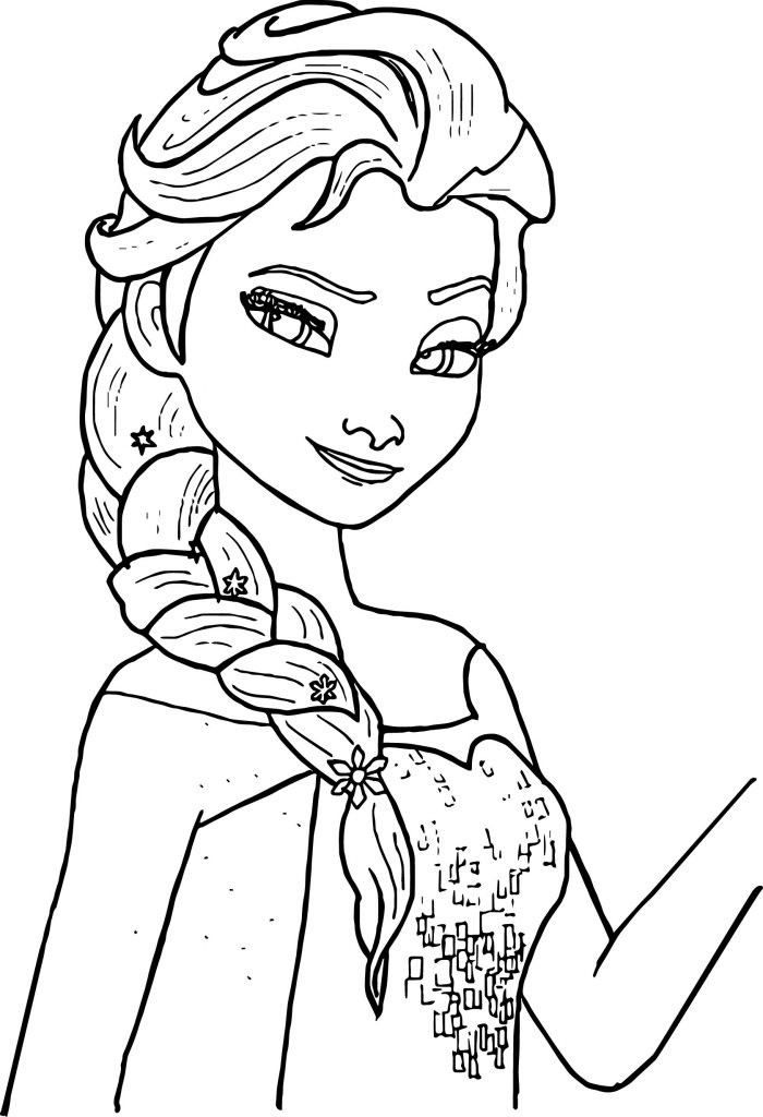 Coloring Books For Toddlers Online  Free Printable Elsa Coloring Pages for Kids Best