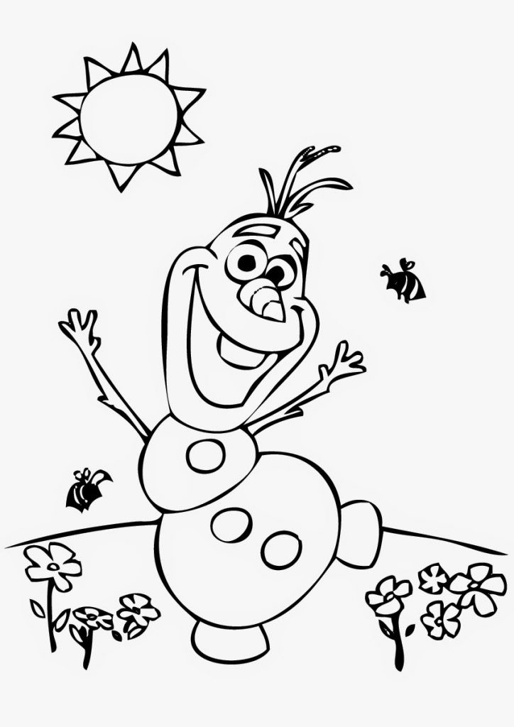 Coloring Books For Toddlers  Frozens Olaf Coloring Pages Best Coloring Pages For Kids