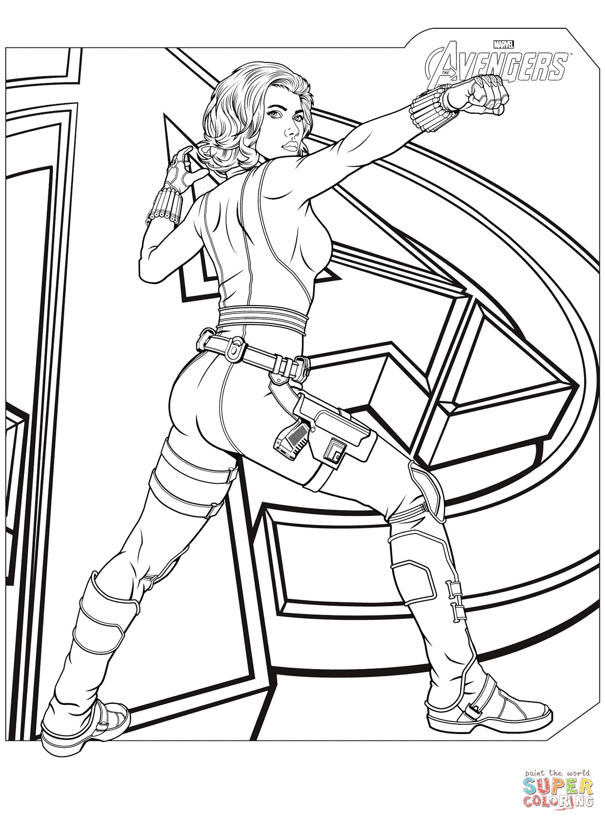 Coloring Pages Avengers  Avengers Black Widow coloring page