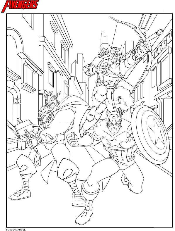 Coloring Pages Avengers  Kids n fun