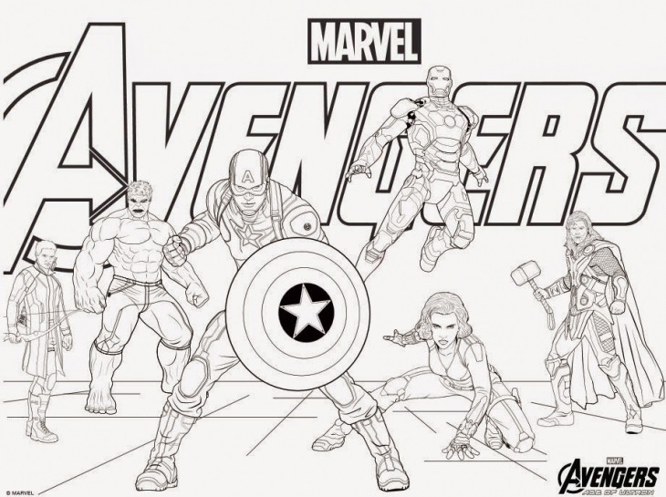 Coloring Pages Avengers  Avengers Coloring Pages Best Coloring Pages For Kids