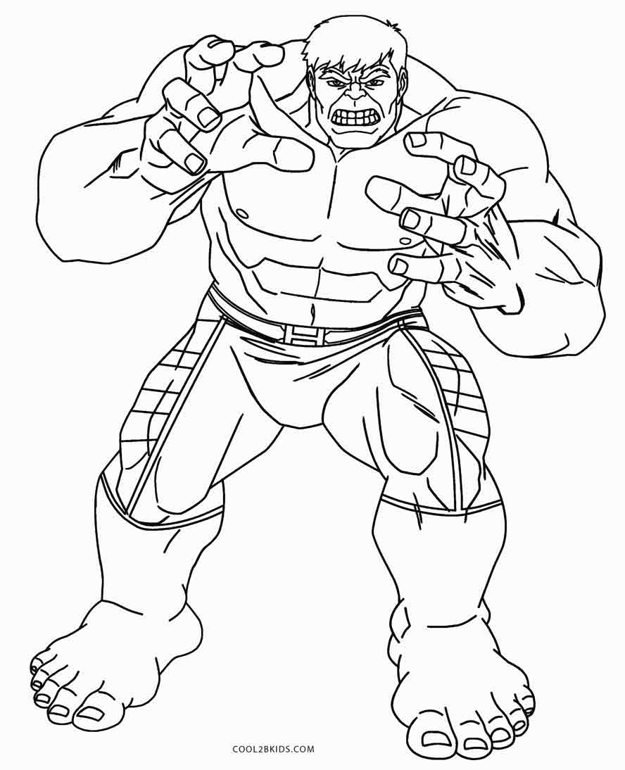 Coloring Pages Avengers  Coloring Pages Hulk Drawing