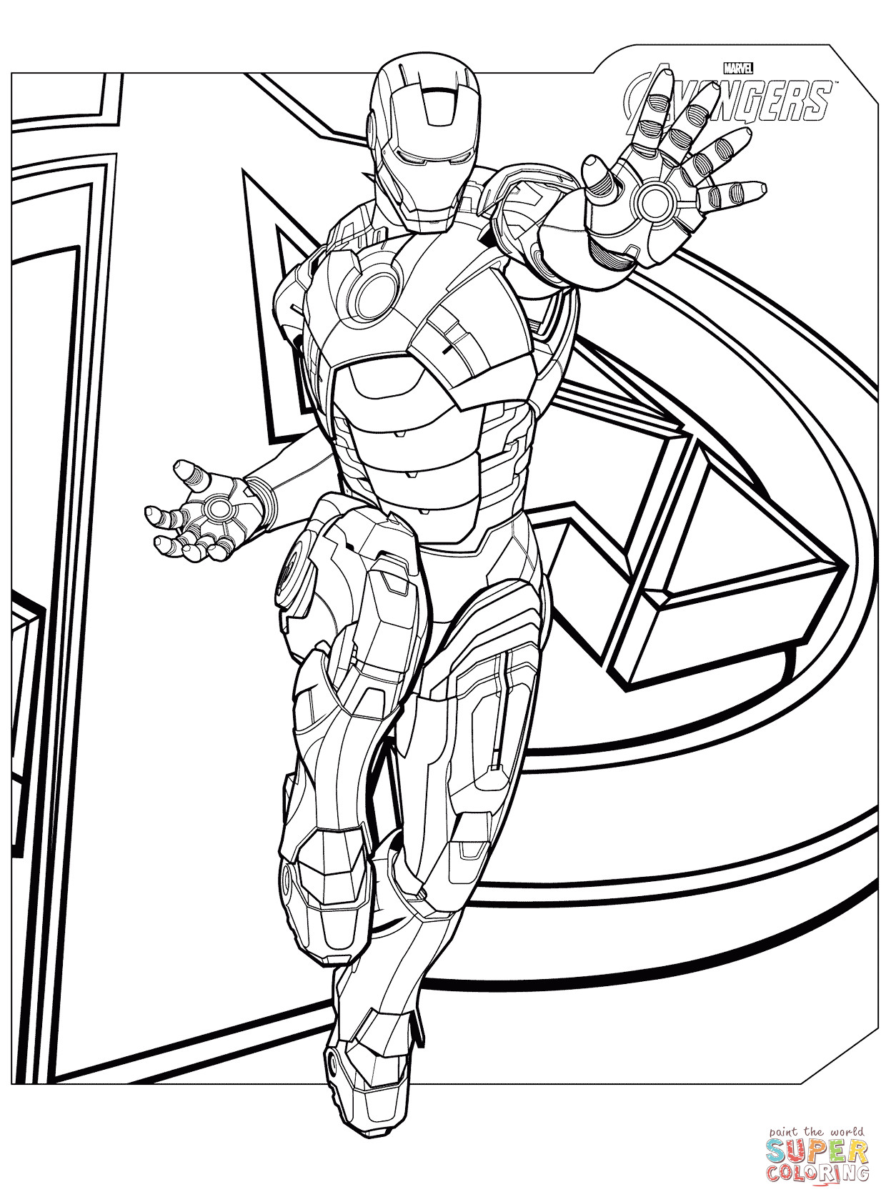 Coloring Pages Avengers  Avengers Iron Man coloring page