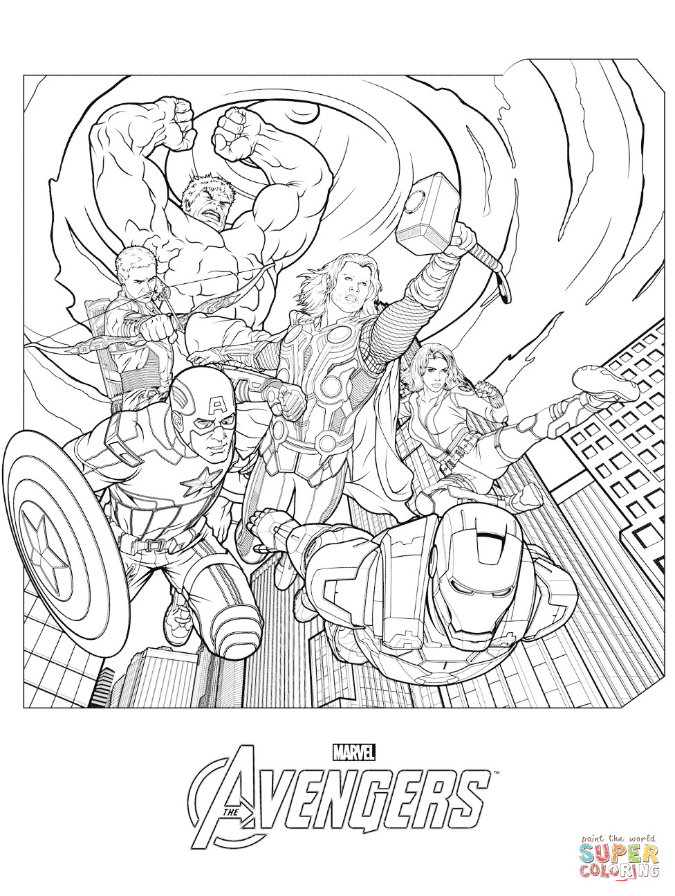 Coloring Pages Avengers  Marvel Avengers coloring page