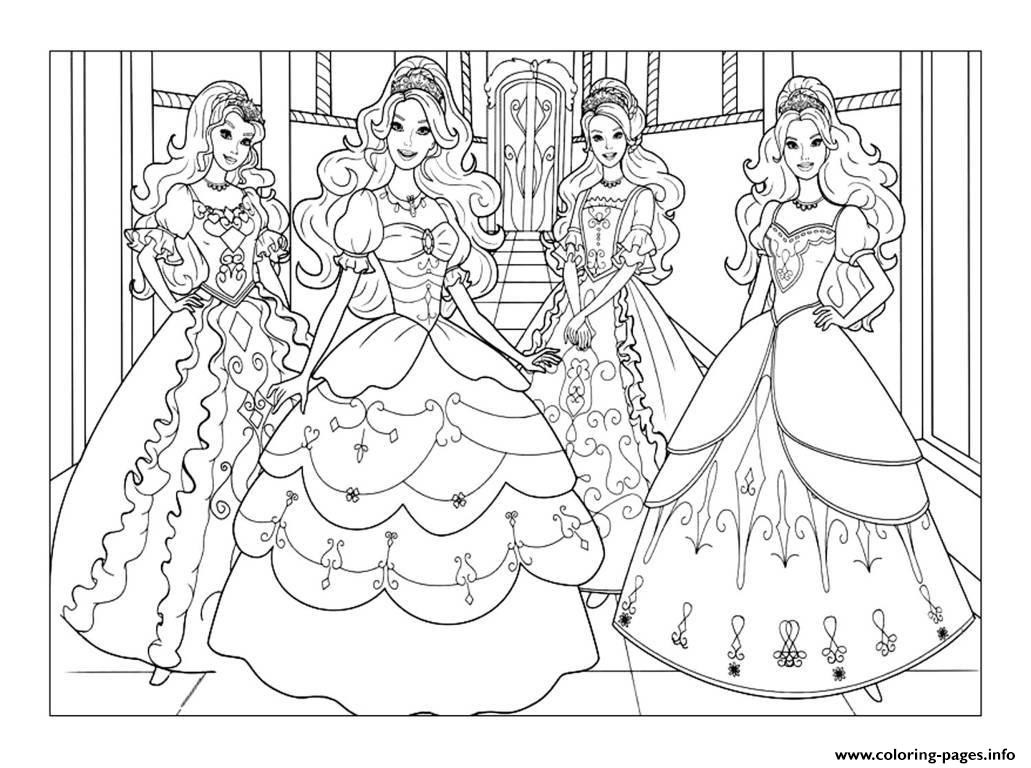 Coloring Pages Barbie  Fundamentals Barbie Coloring Pages To Print Ou 2931