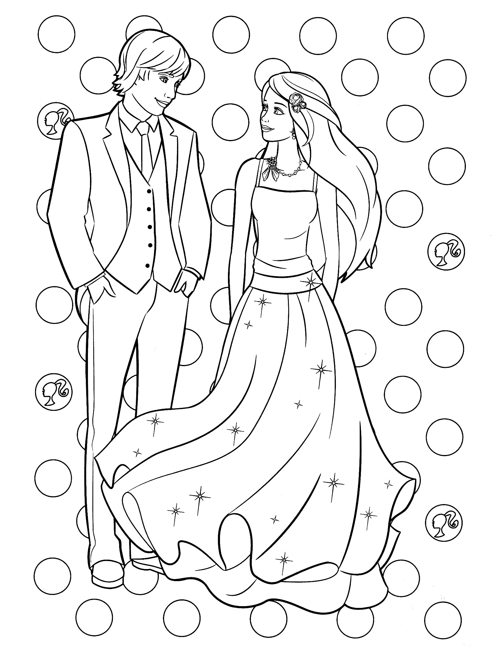 Coloring Pages Barbie  Barbie Coloring Pages