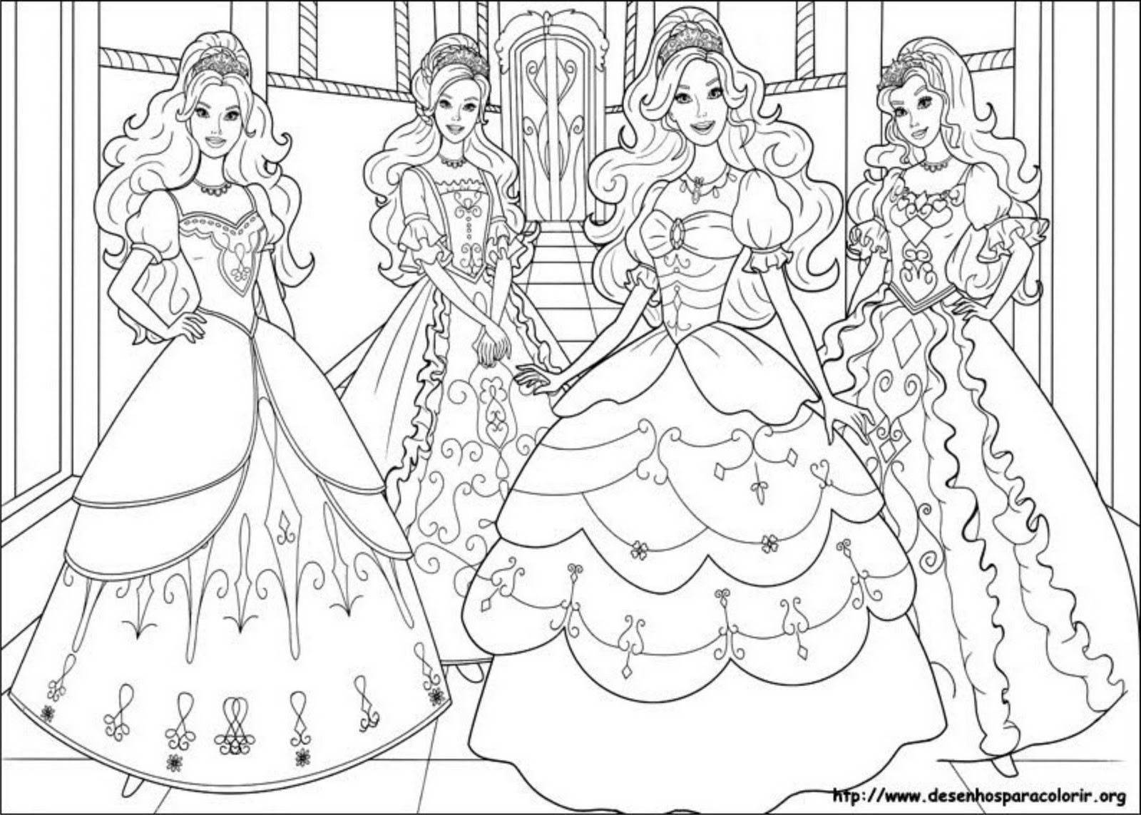 Coloring Pages Barbie  Elegant Barbie Coloring Pages Free 6067