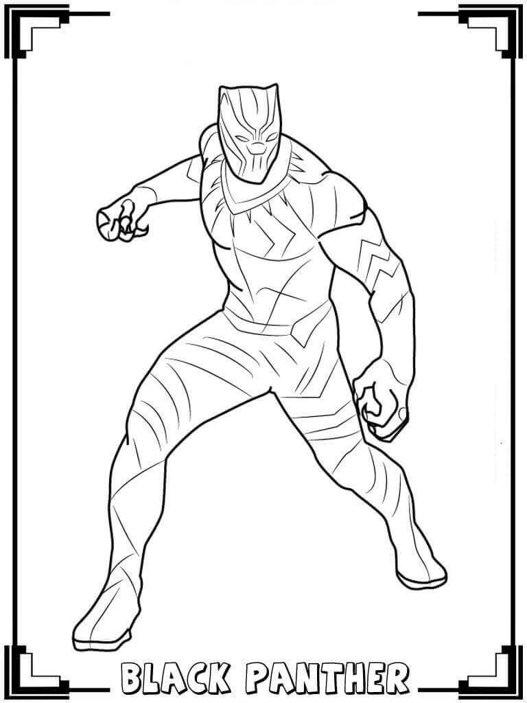 Coloring Pages Black Panther  Free Printable Black Panther Coloring Pages