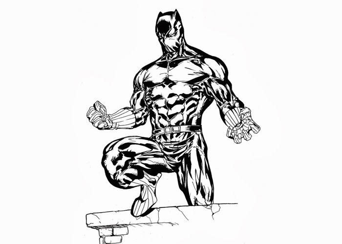 Coloring Pages Black Panther  09 01 13