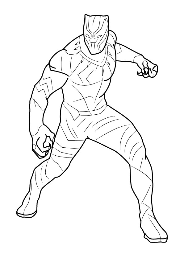 Coloring Pages Black Panther  Marvel Black Panther Coloring Page Free Printable