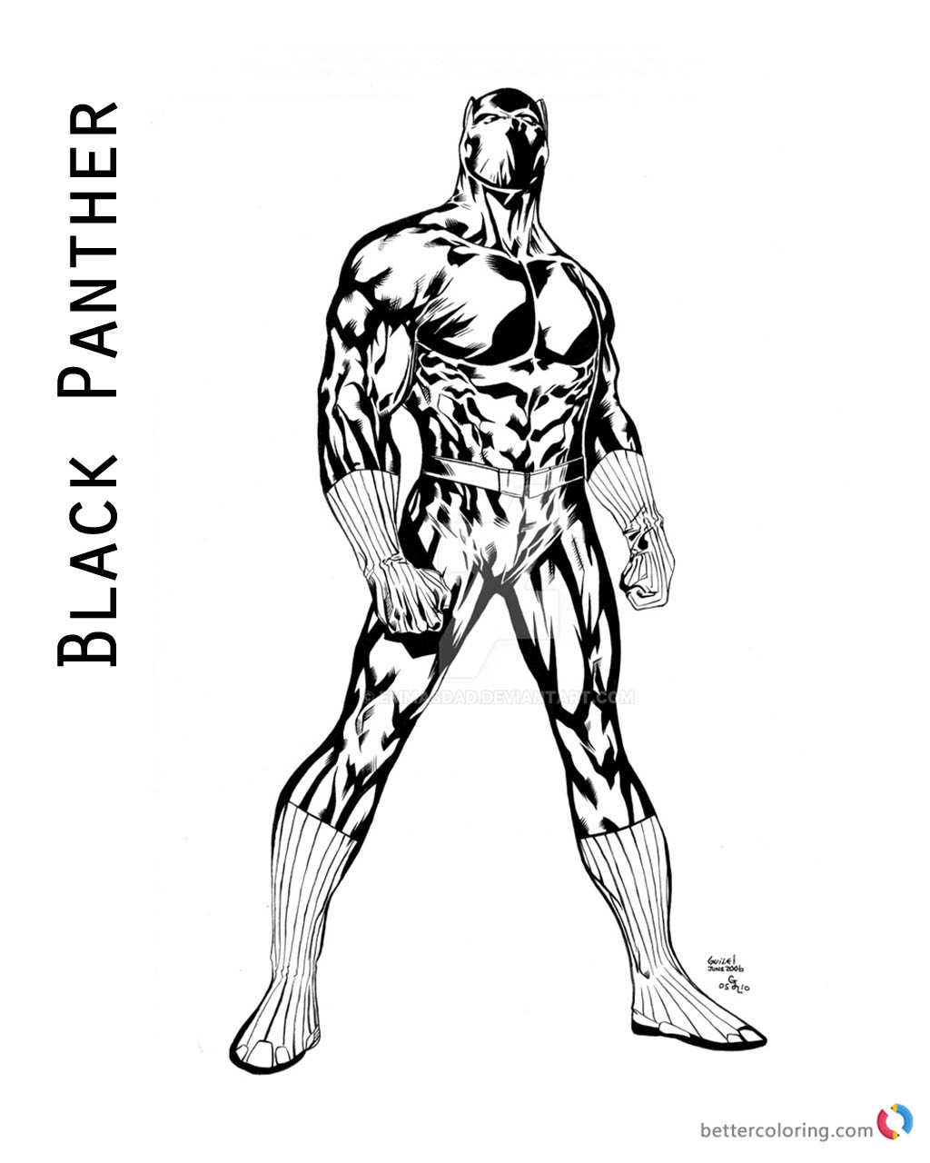 Coloring Pages Black Panther  Black Panther Coloring Pages of Marvel Movie Free