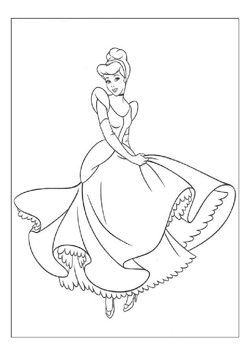 Coloring Pages Cinderella  Free Printable Cinderella Coloring Pages For Kids