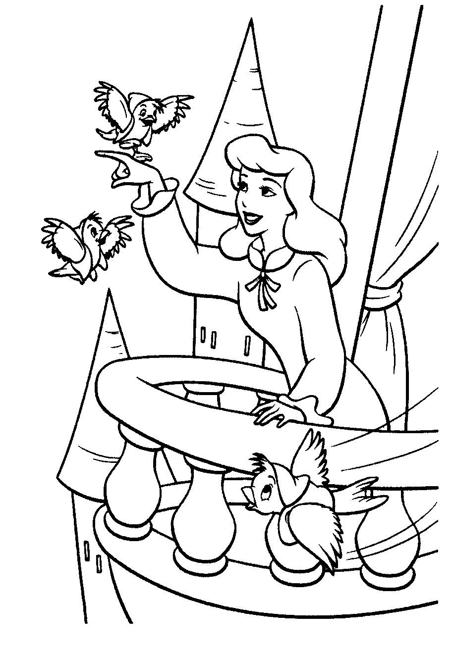 Coloring Pages Cinderella  Cinderella Coloring Pages To Print