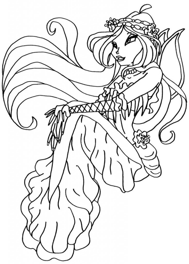 Coloring Pages Com  Free Printable Winx Club Coloring Pages For Kids