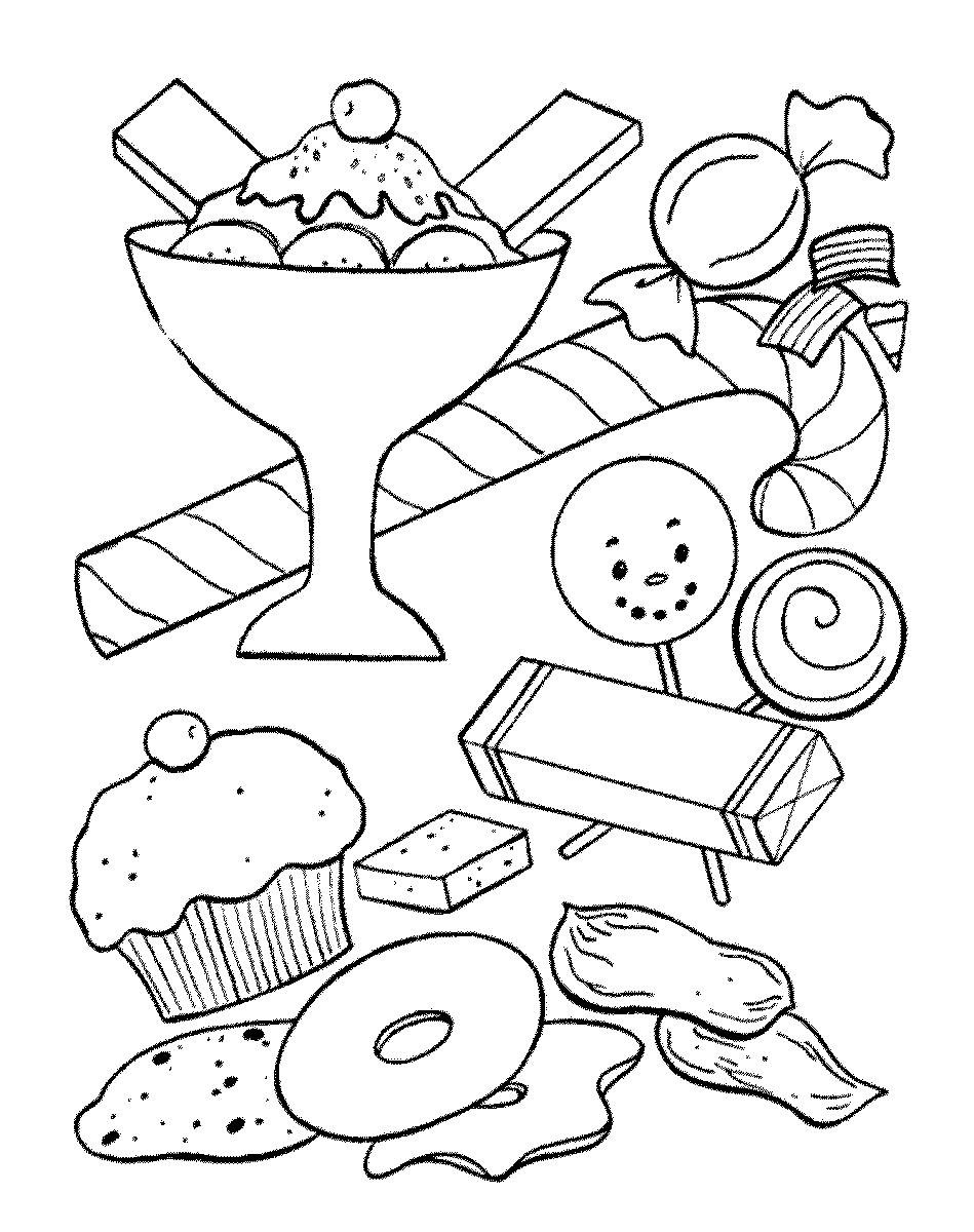Coloring Pages Com  Sweets Coloring Pages for childrens printable for free