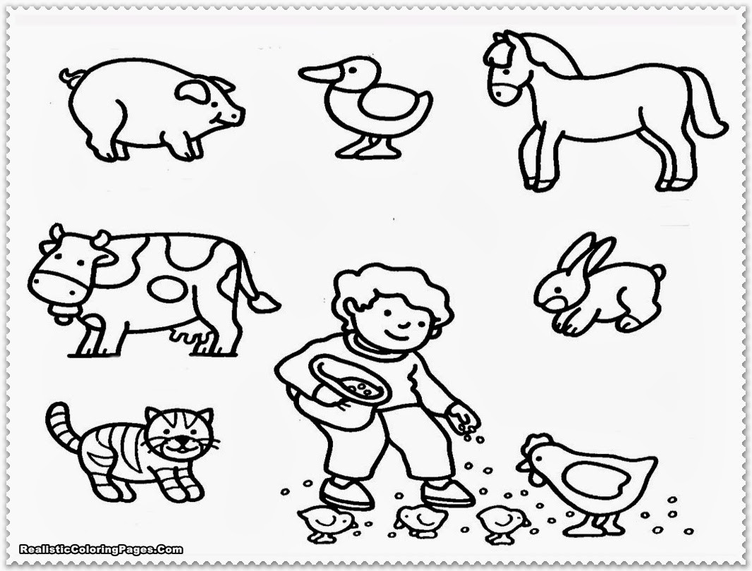 Coloring Pages Farm Animals  Farm Animal Coloring Pages