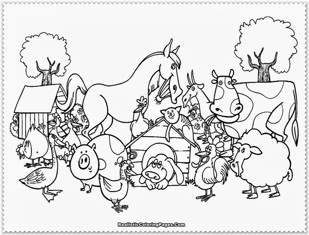 Coloring Pages Farm Animals  DIY Farm Crafts and Activities with 33 Farm Coloring