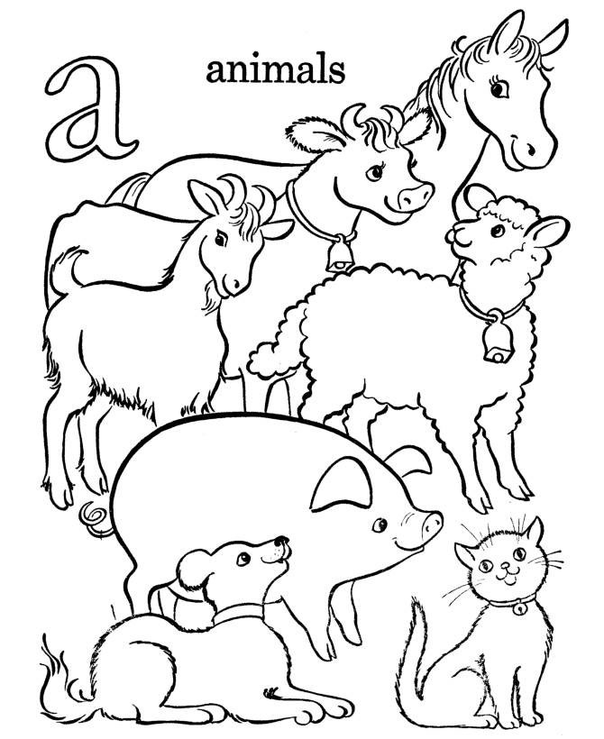 Coloring Pages Farm Animals  Free Printable Farm Animal Coloring Pages For Kids