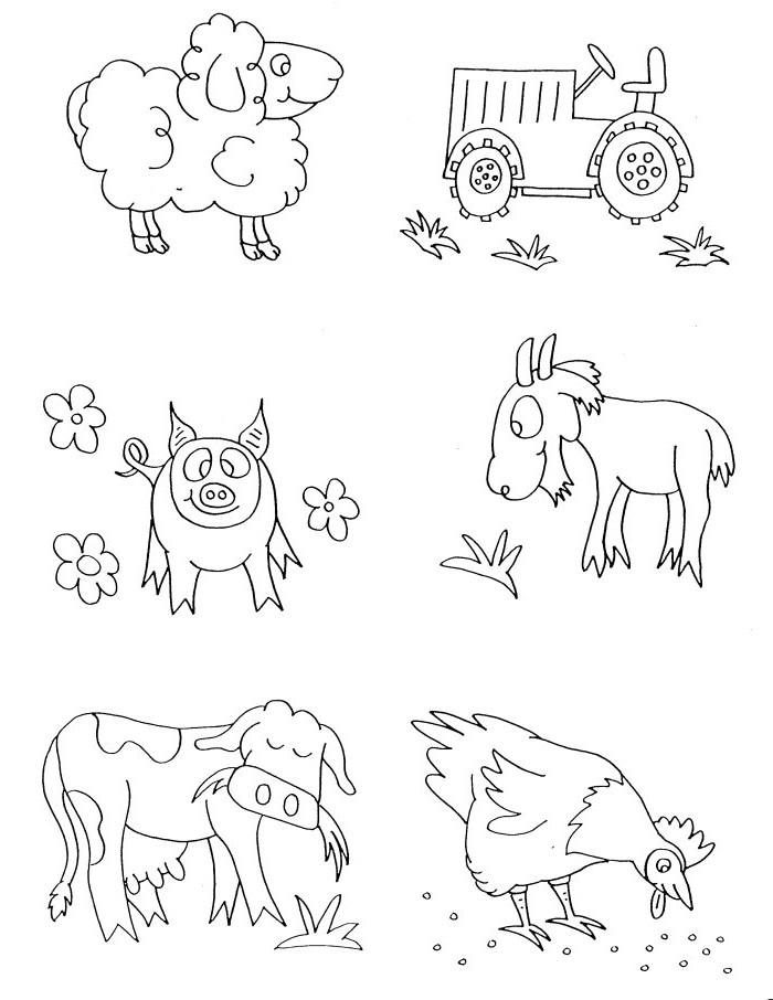 Coloring Pages Farm Animals  Goat