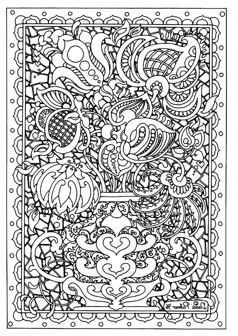 Coloring Pages For Adults Difficult  Get This Printable Difficult Coloring Pages for Adults