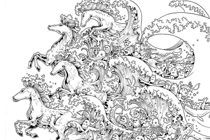 Coloring Pages For Adults Difficult  Coloring pages for adults
