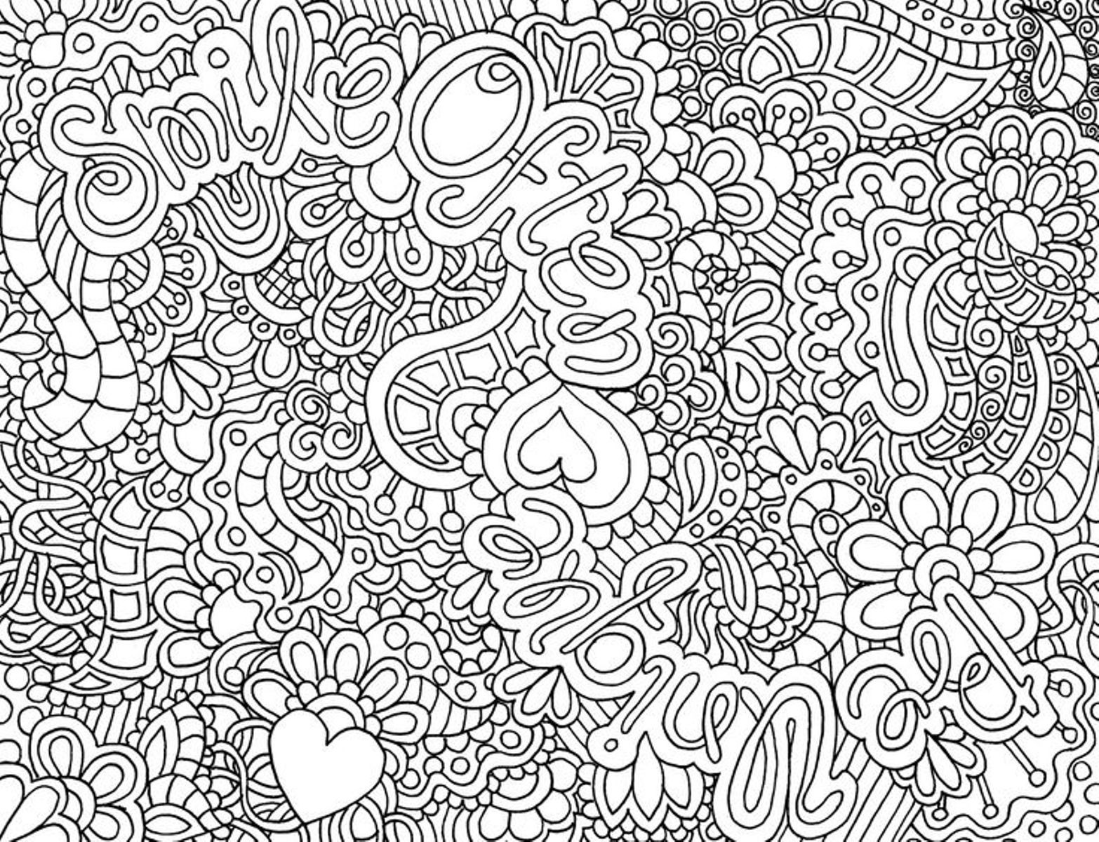 Coloring Pages For Adults Difficult  Difficult Hard Coloring Pages Printable