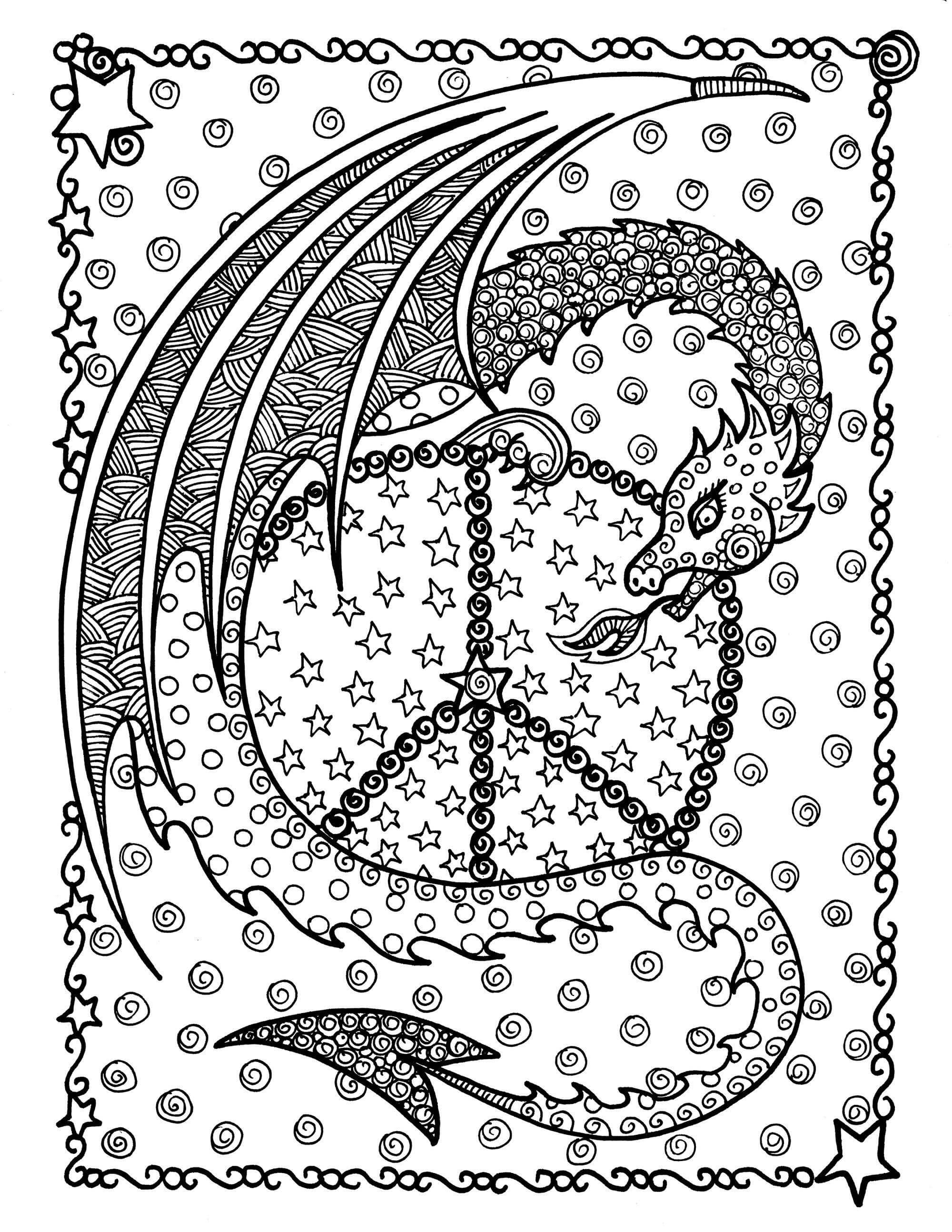 Coloring Pages For Adults Difficult  Coloring Pages For Adults Difficult Animals 6