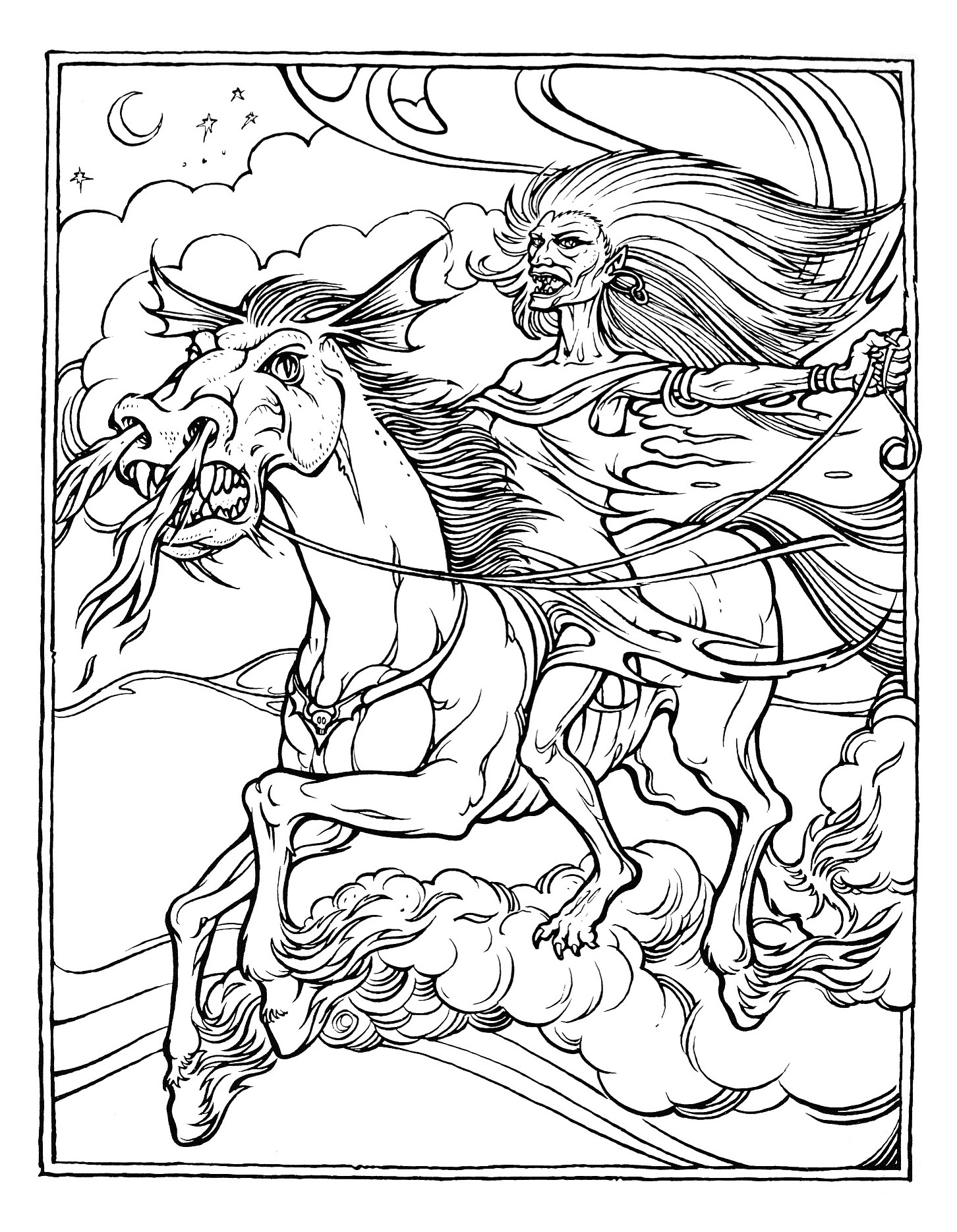 Coloring Pages For Adults Difficult  Dragon Coloring Pages