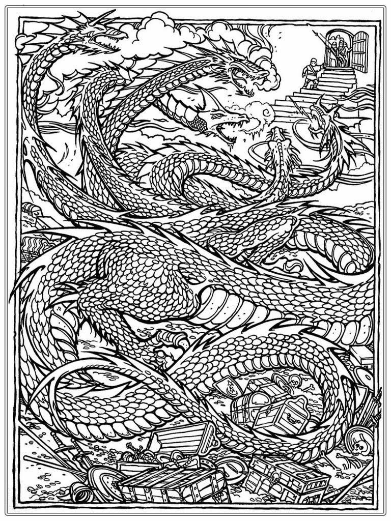 Coloring Pages For Adults Dragon  Free Coloring Pages of Dragons 36 Coloring Sheets