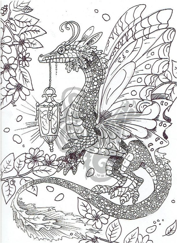 Coloring Pages For Adults Dragon  Get This Dragon Coloring Pages for Adults Free Printable