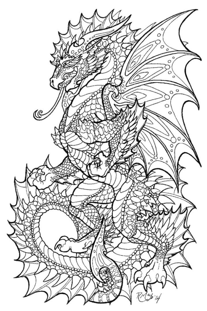 Coloring Pages For Adults Dragon  Get This Dragon Coloring Pages for Adults Printable 6sm40
