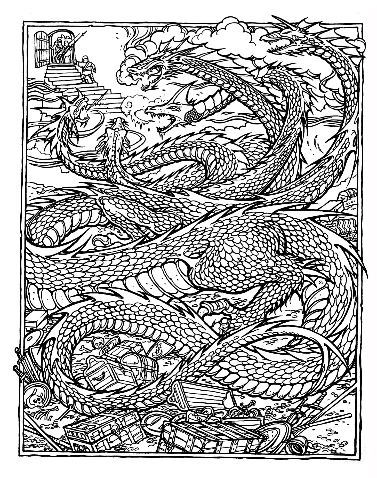 Coloring Pages For Adults Dragon  MONSTER BRAINS The ficial Advanced Dungeons and Dragons