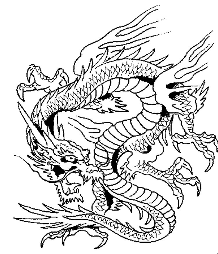 Coloring Pages For Adults Dragon  Dragon Coloring Pages Printable