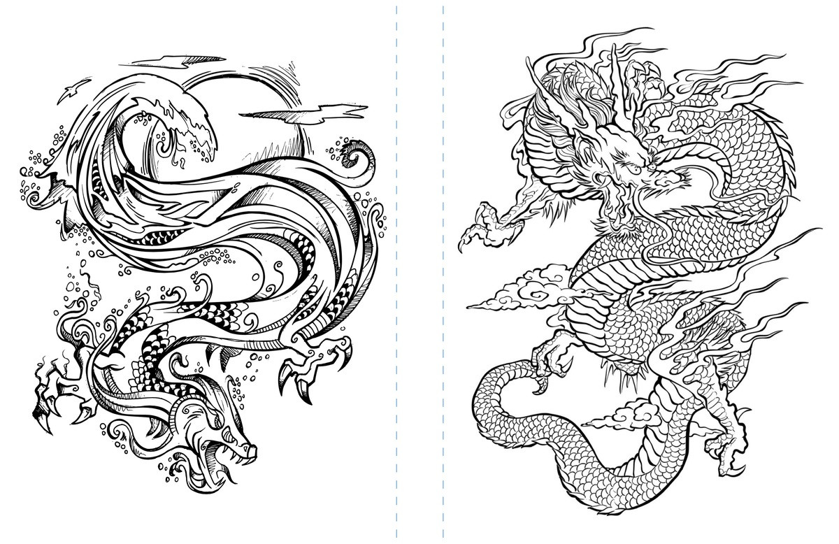 Coloring Pages For Adults Dragon  Free Dragon Coloring Page to Print Adult Coloring