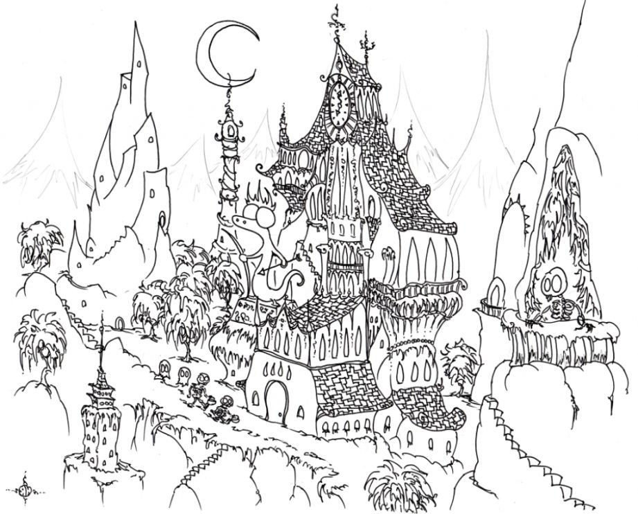 Coloring Pages For Adults Halloween  Halloween Adult Coloring Pages Coloring Home