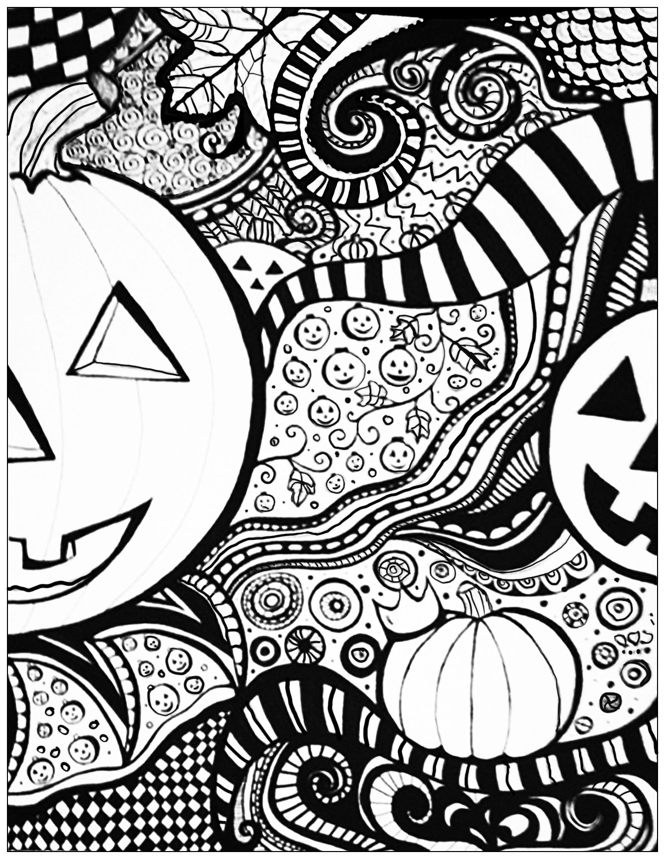 Coloring Pages For Adults Halloween  Halloween sheet Halloween Adult Coloring Pages