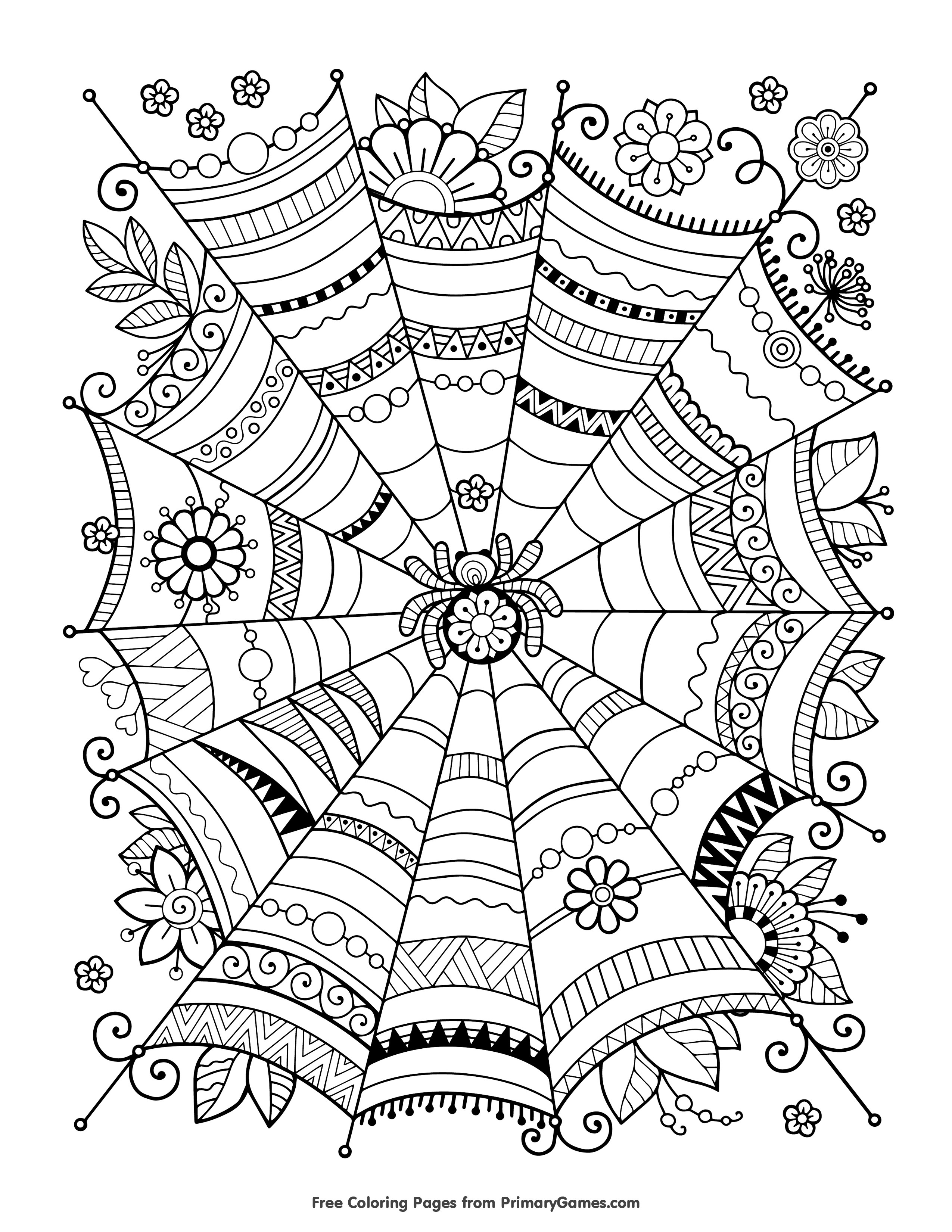 Coloring Pages For Adults Halloween  FREE Halloween Coloring Pages for Adults & Kids