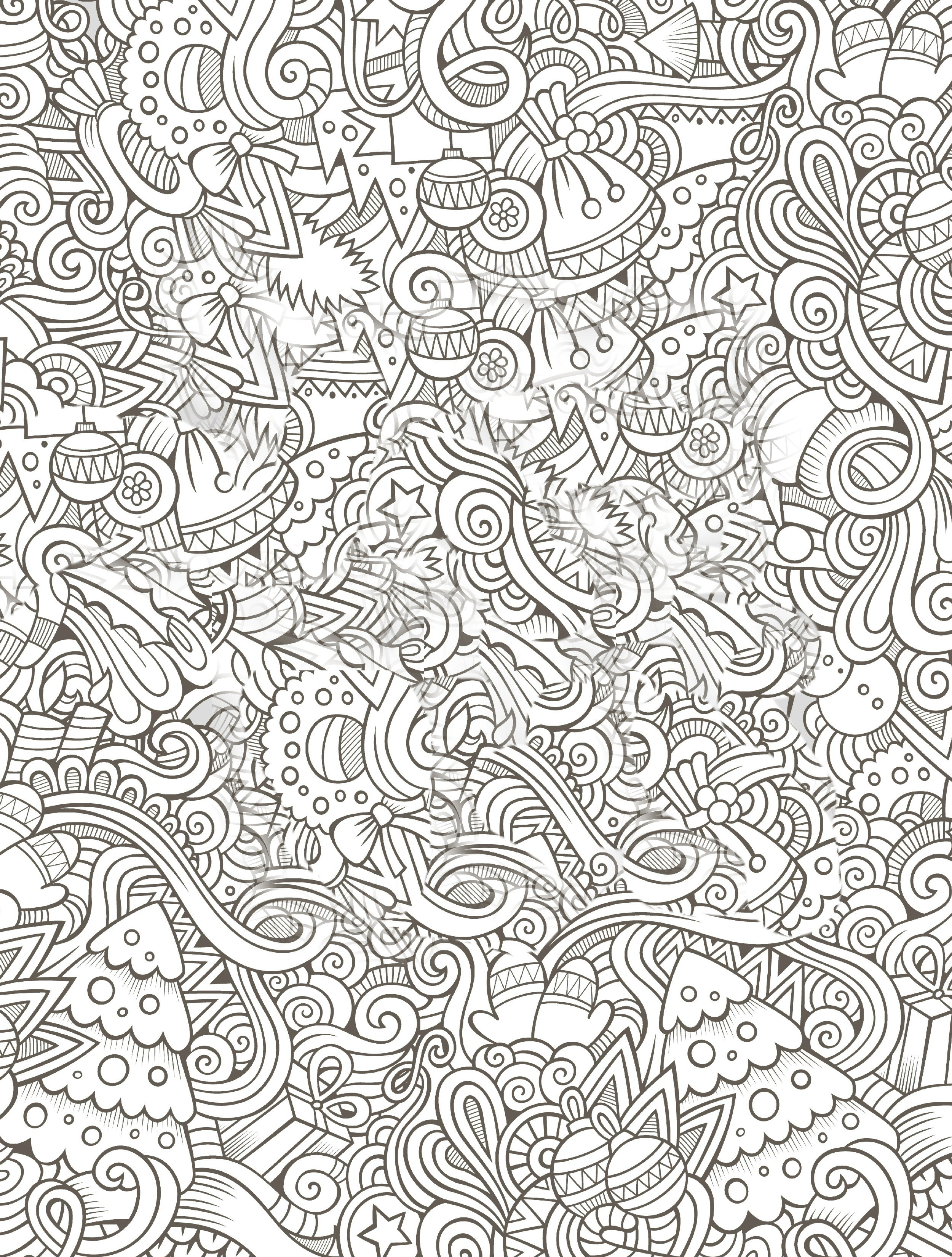 Coloring Pages For Adults To Print  10 Free Printable Holiday Adult Coloring Pages