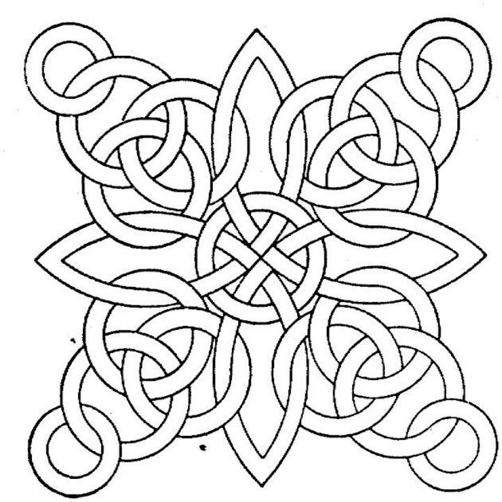Coloring Pages For Adults To Print  Free Printable Geometric Coloring Pages for Adults