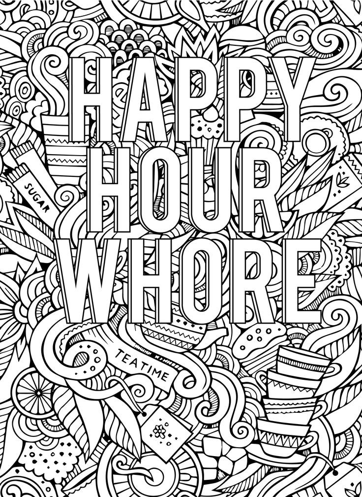 Coloring Pages For Adults Words  453 best Vulgar Coloring Pages images on Pinterest